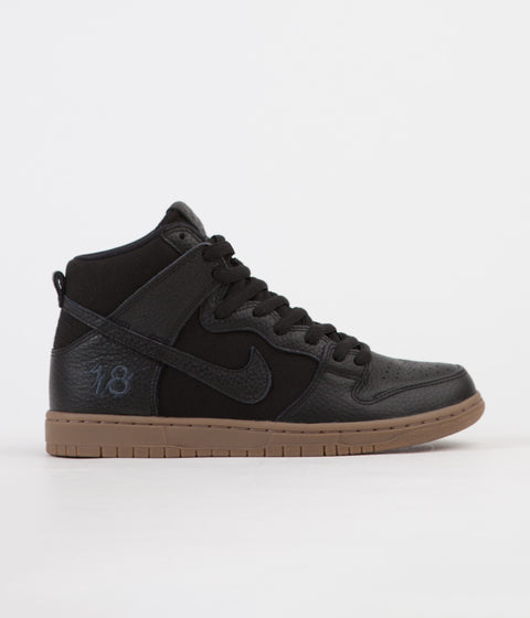 Nike SB x Anti Hero Dunk High Pro QS Shoes - Black / Black - Anthracite