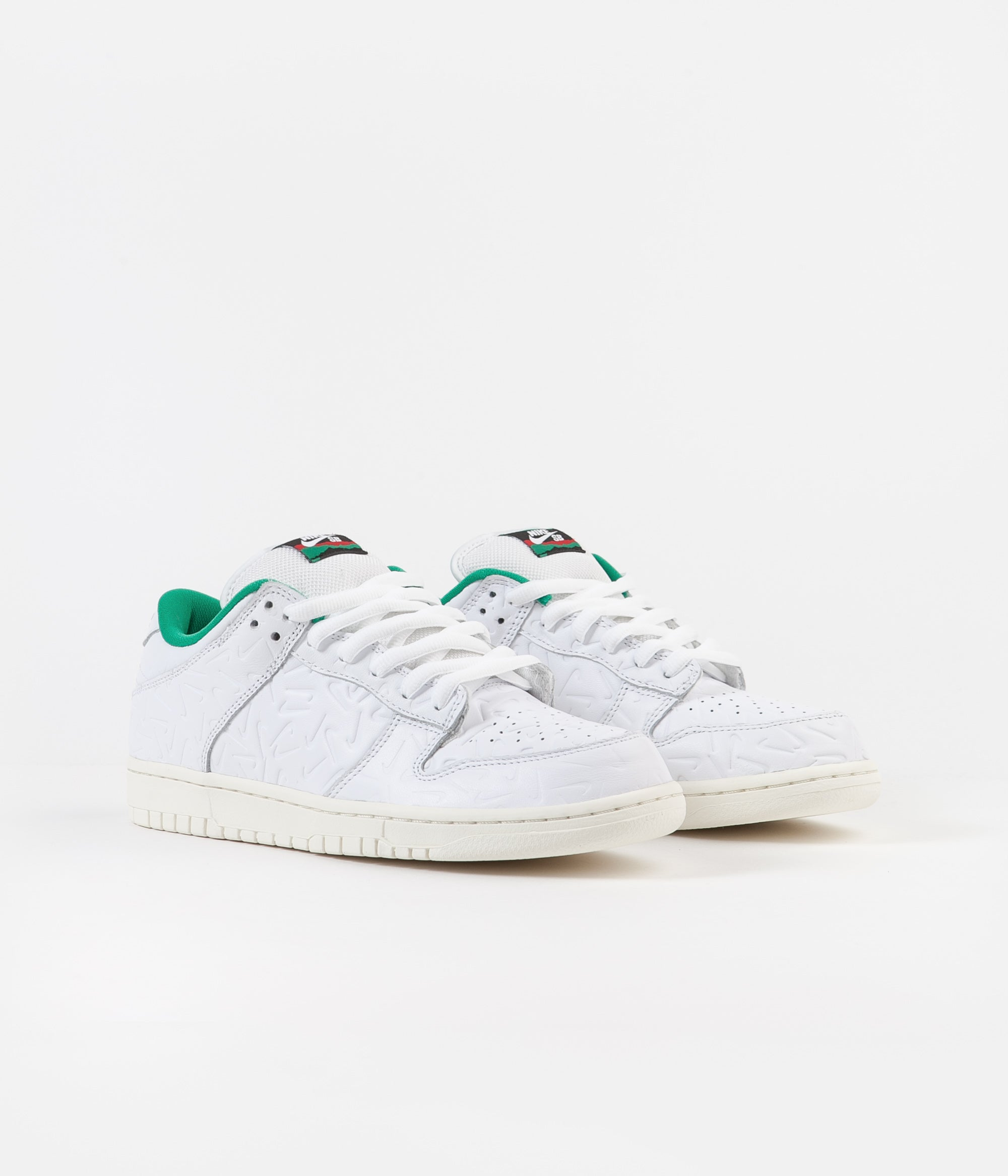 Nike SB x Ben-G Dunk Low OG 2 Shoes - White / White - Lucid Green - Sail