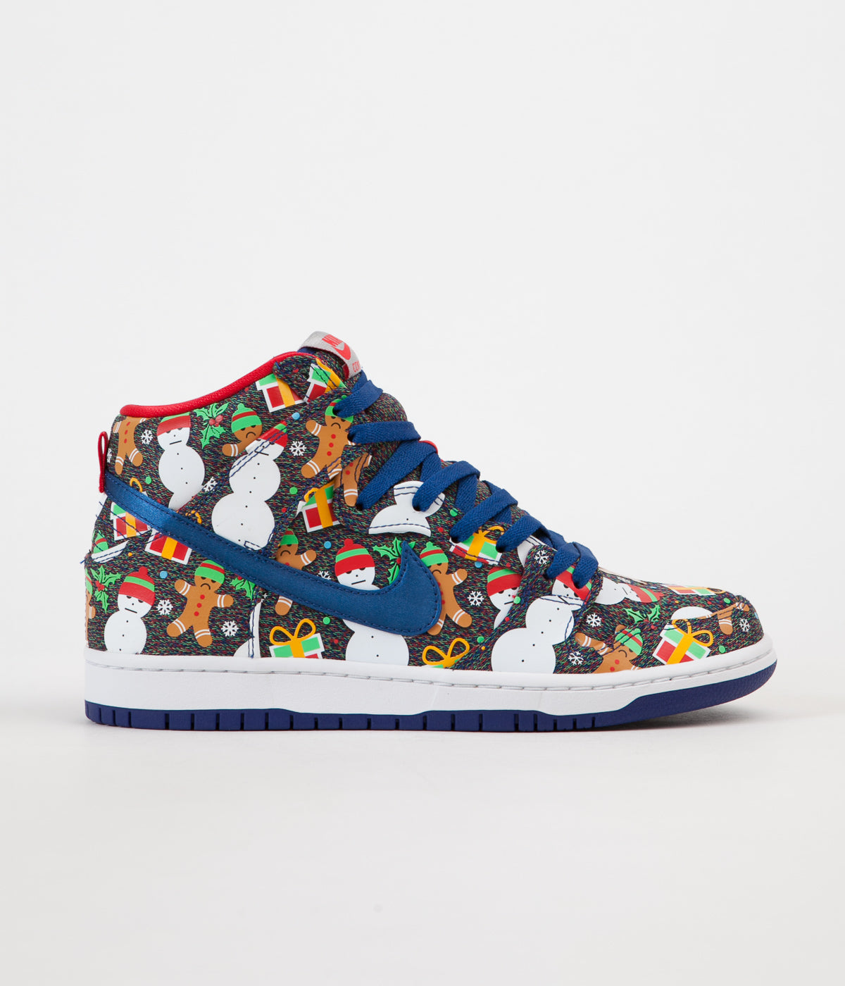 ... Nike SB x Concepts Dunk High 'Ugly Sweater' Shoes - Blue Ribbon / Blue  ...