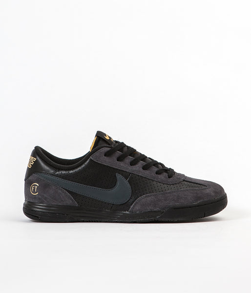 Nike SB X FTC Lunar FC Shoes - Black / Anthracite - Metallic Gold