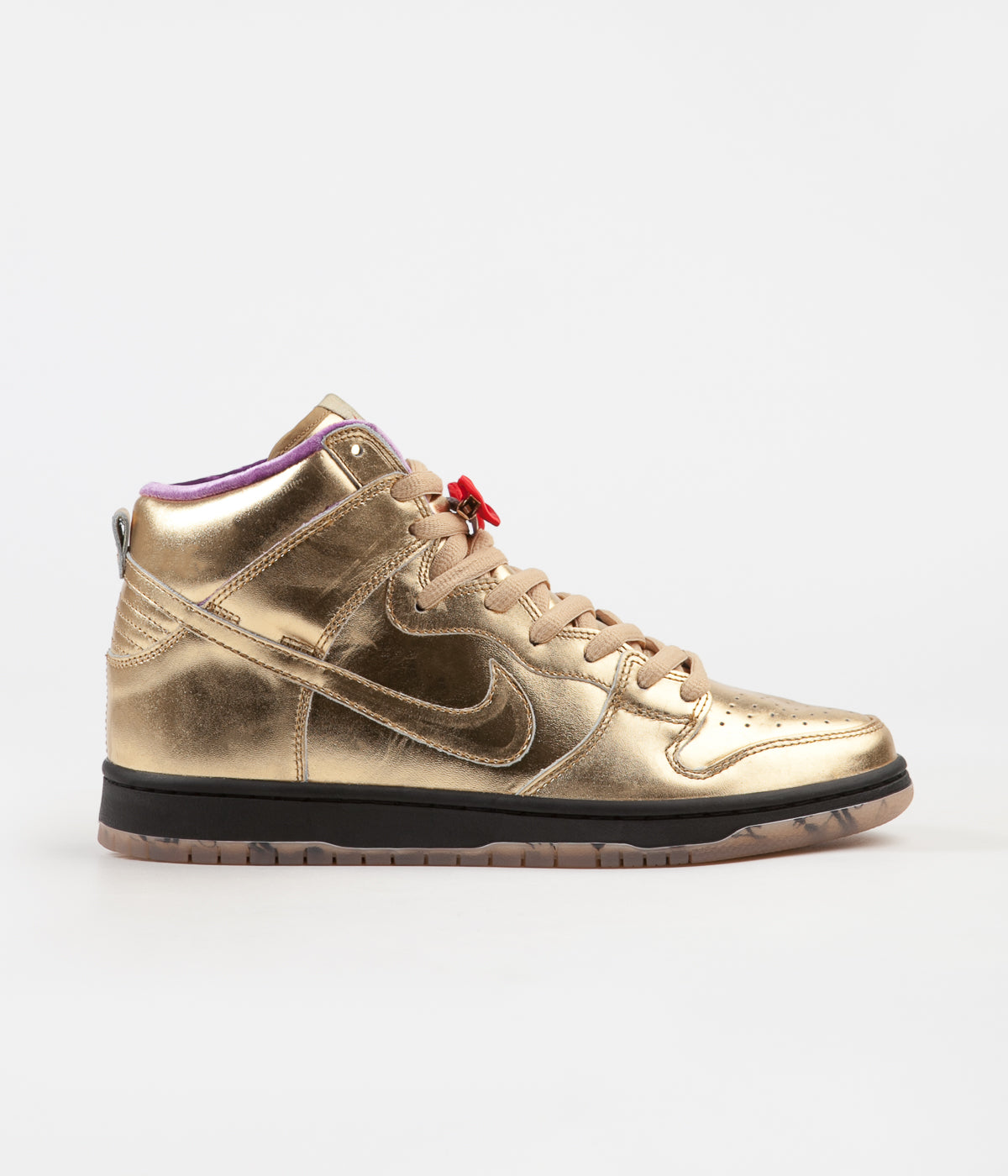 Nike SB x Humidity 'Trumpet' Dunk High QS Shoes - Metallic Gold / Metallic Gold - Black