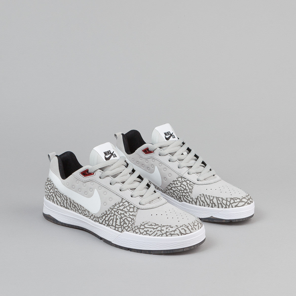 Nike SB x Jordan P Rod 9 Elite QS - Sterling / White / Black / Deep Red