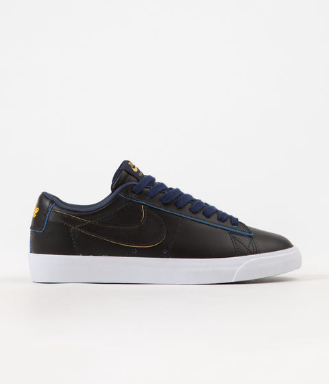 Nike SB x NBA Blazer Low GT Shoes - Black / Black - Amarillo - Coast