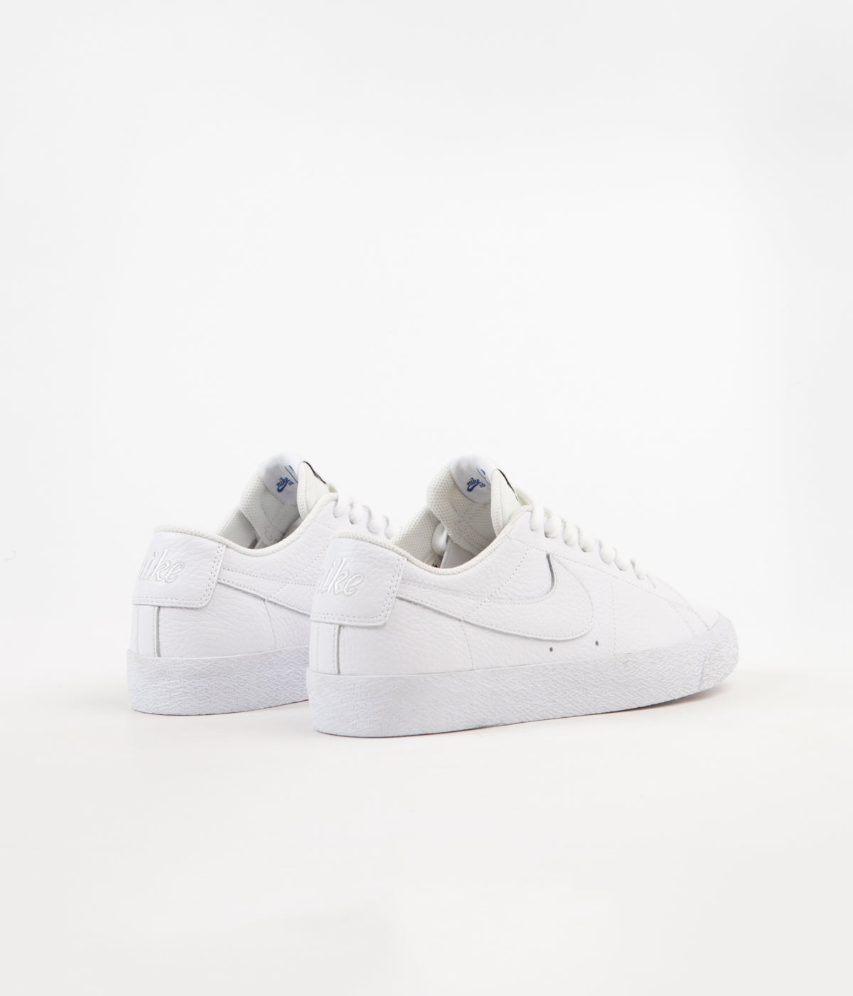 7b20e6743395 ... Nike SB x NBA Blazer Low Shoes - White   White - Rush Blue - University  ...