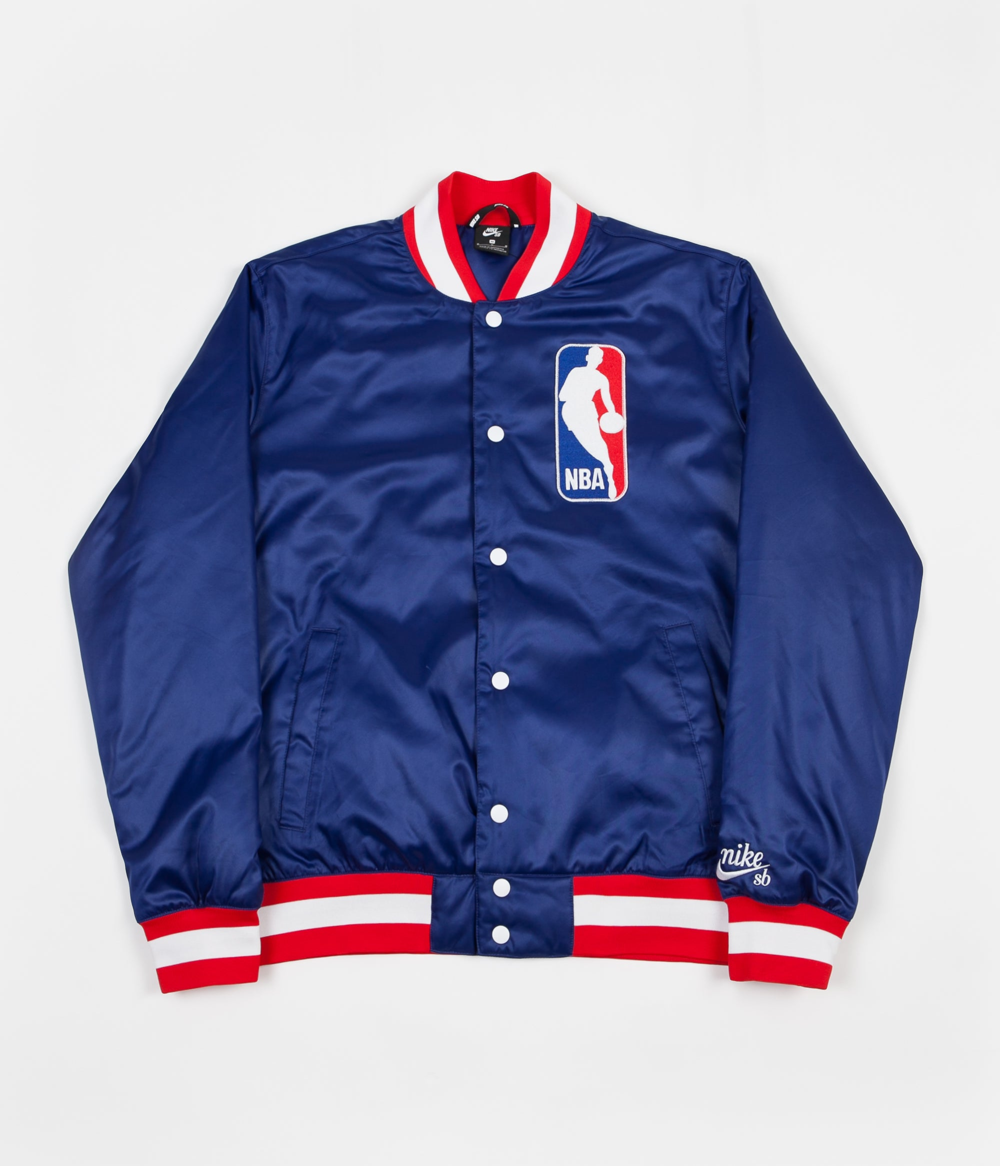 purchase cheap 22c45 99b21 Nike SB x NBA Bomber Jacket - Deep Royal Blue   White