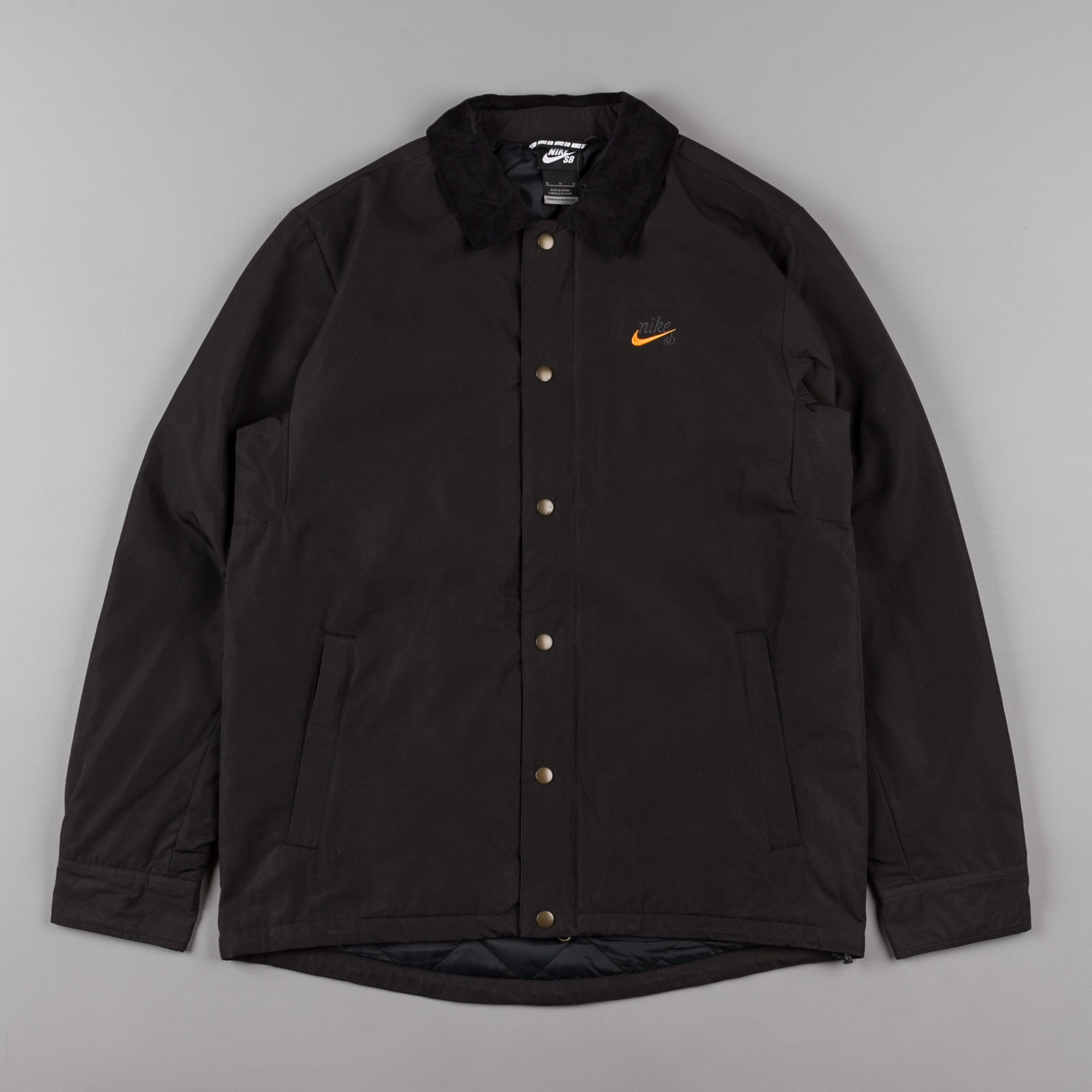 Nike SB x Numbers Coaches Jacket - Black / Vivid Orange