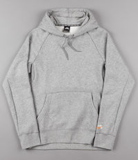 Nike SB x Numbers Icon Hooded Sweatshirt - Dark Grey Heather / Vivid Orange
