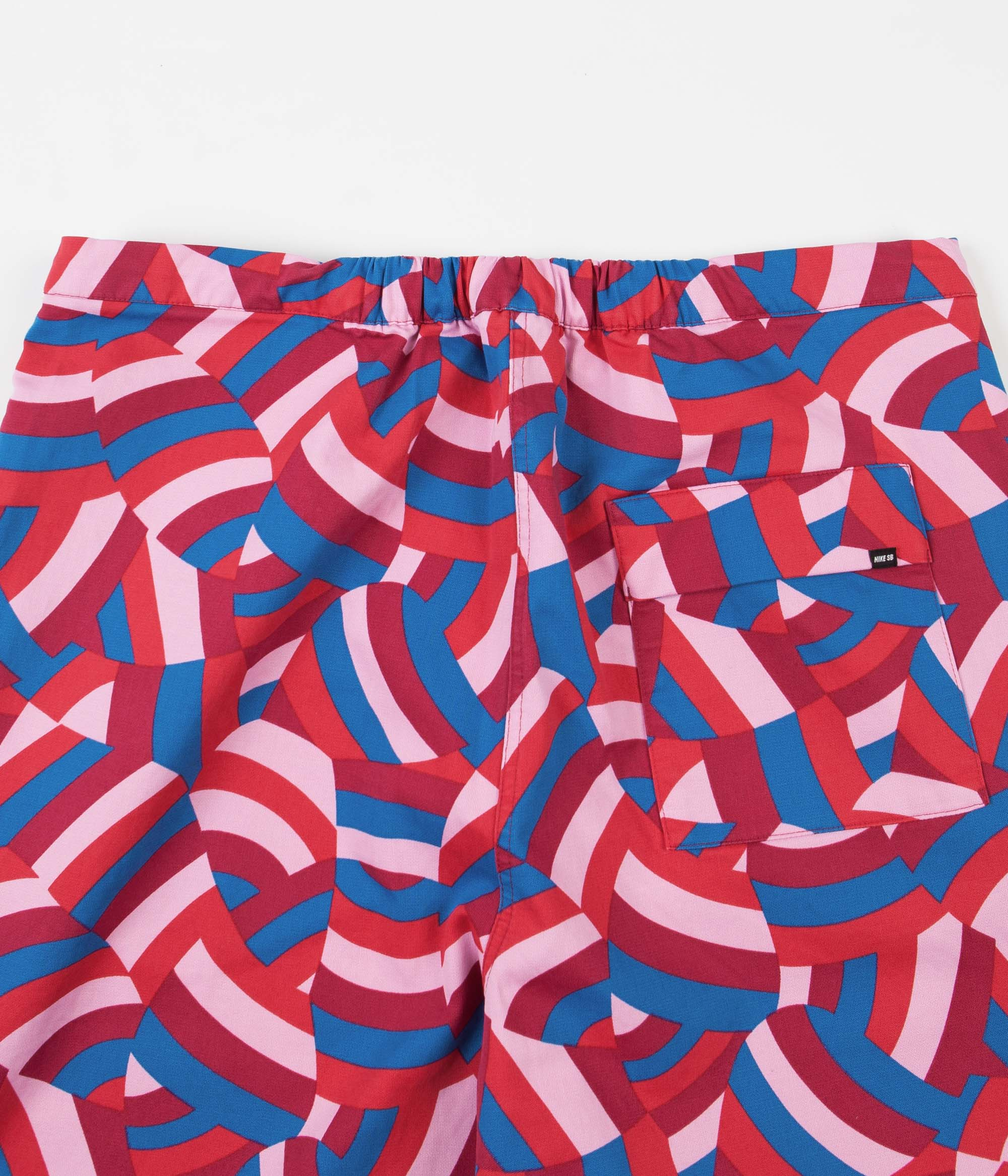Nike SB x Parra Pants - Gym Red / Pink Rise / Military Blue