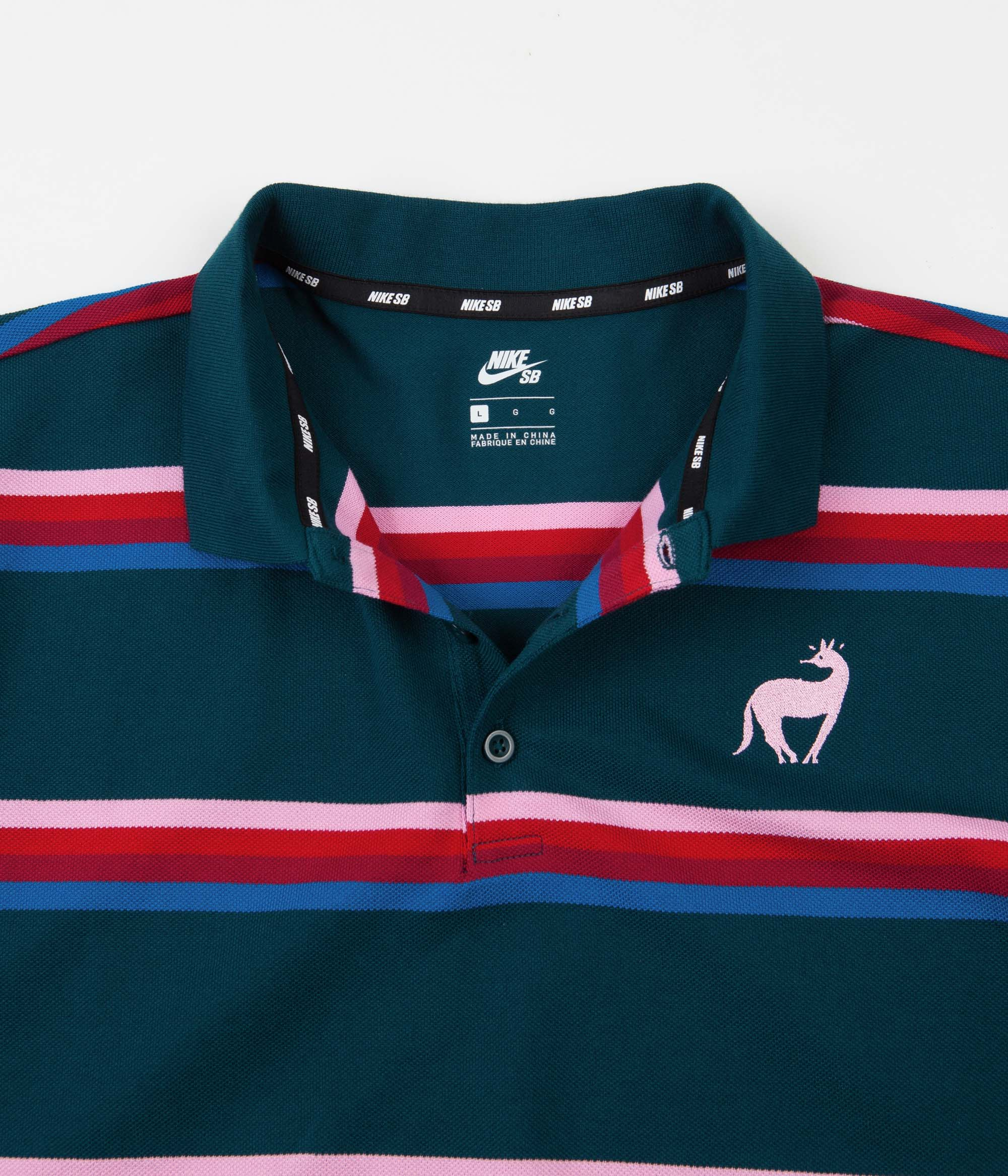 Oficial cheque Rana  Nike SB x Parra Polo Shirt - Midnight Turquoise / Military Blue / Pink |  Flatspot