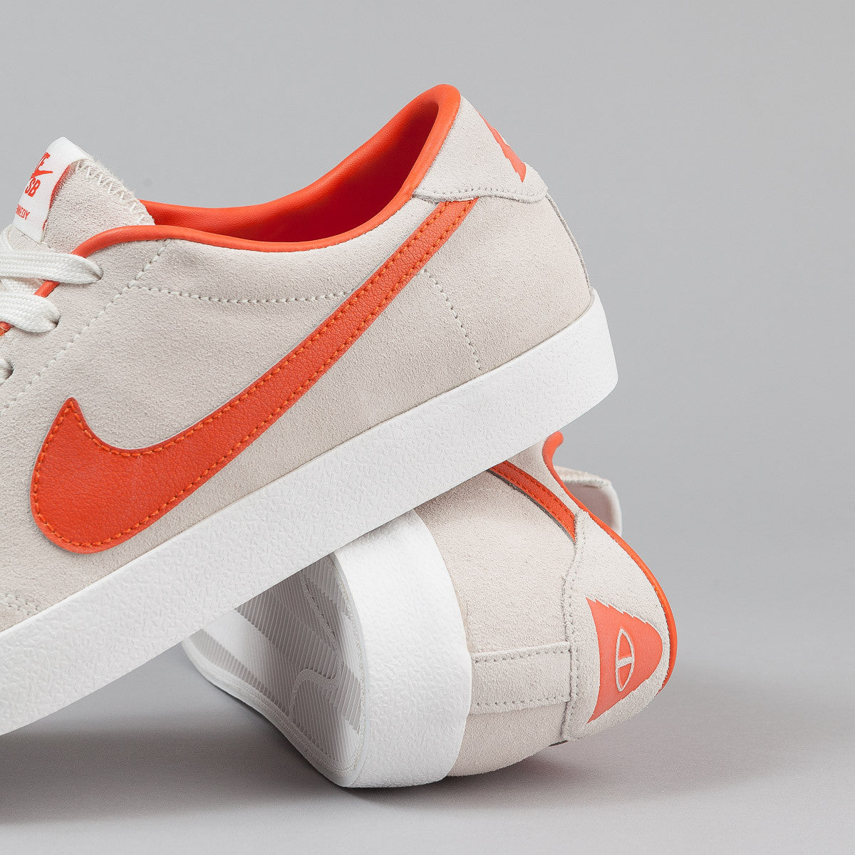 Nike SB x Poler Air Zoom All Court CK Shoes - Ivory / Univ Orange Light-Bone