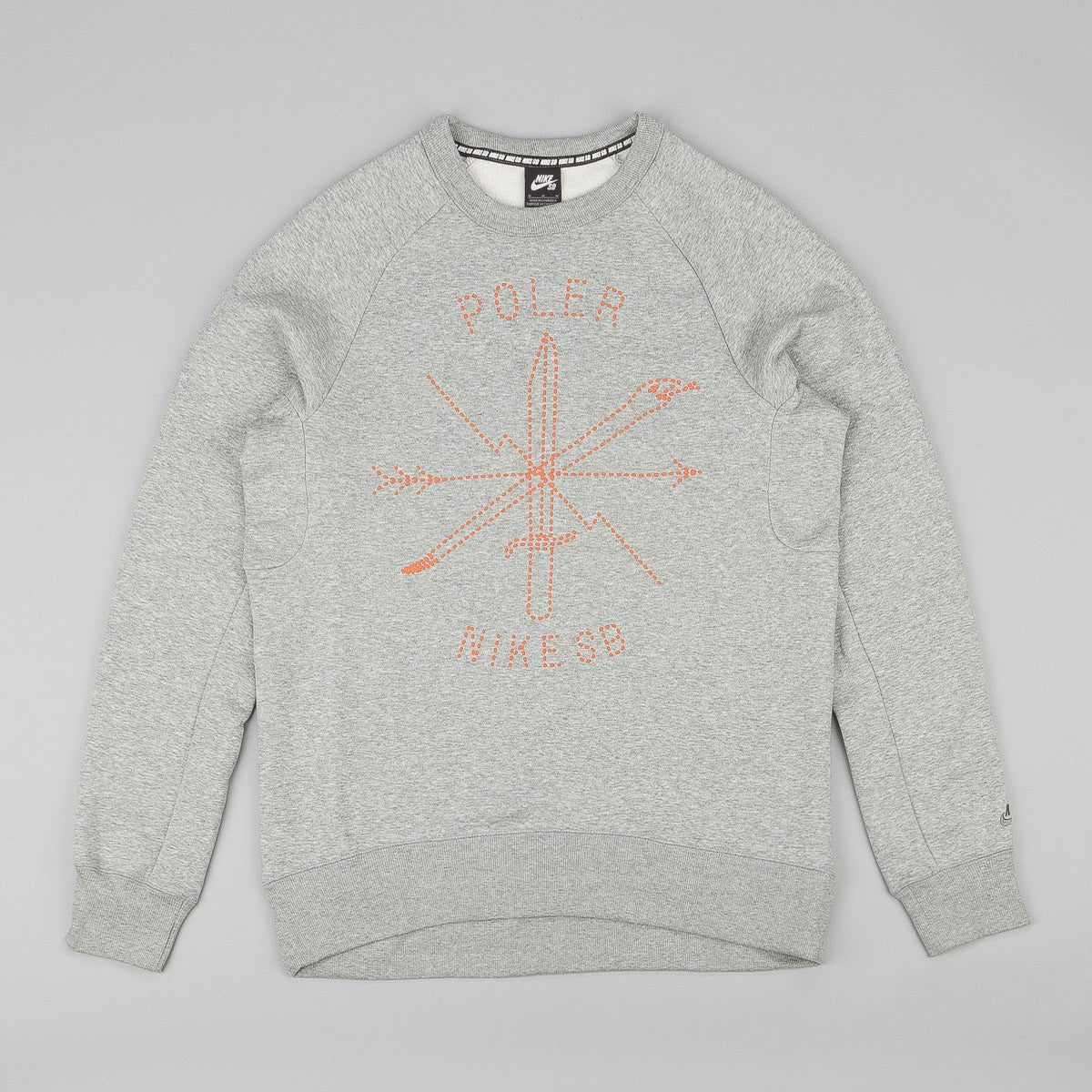 Nike SB X Poler Icon Crew Neck Sweatshirt - Dark Heather Grey
