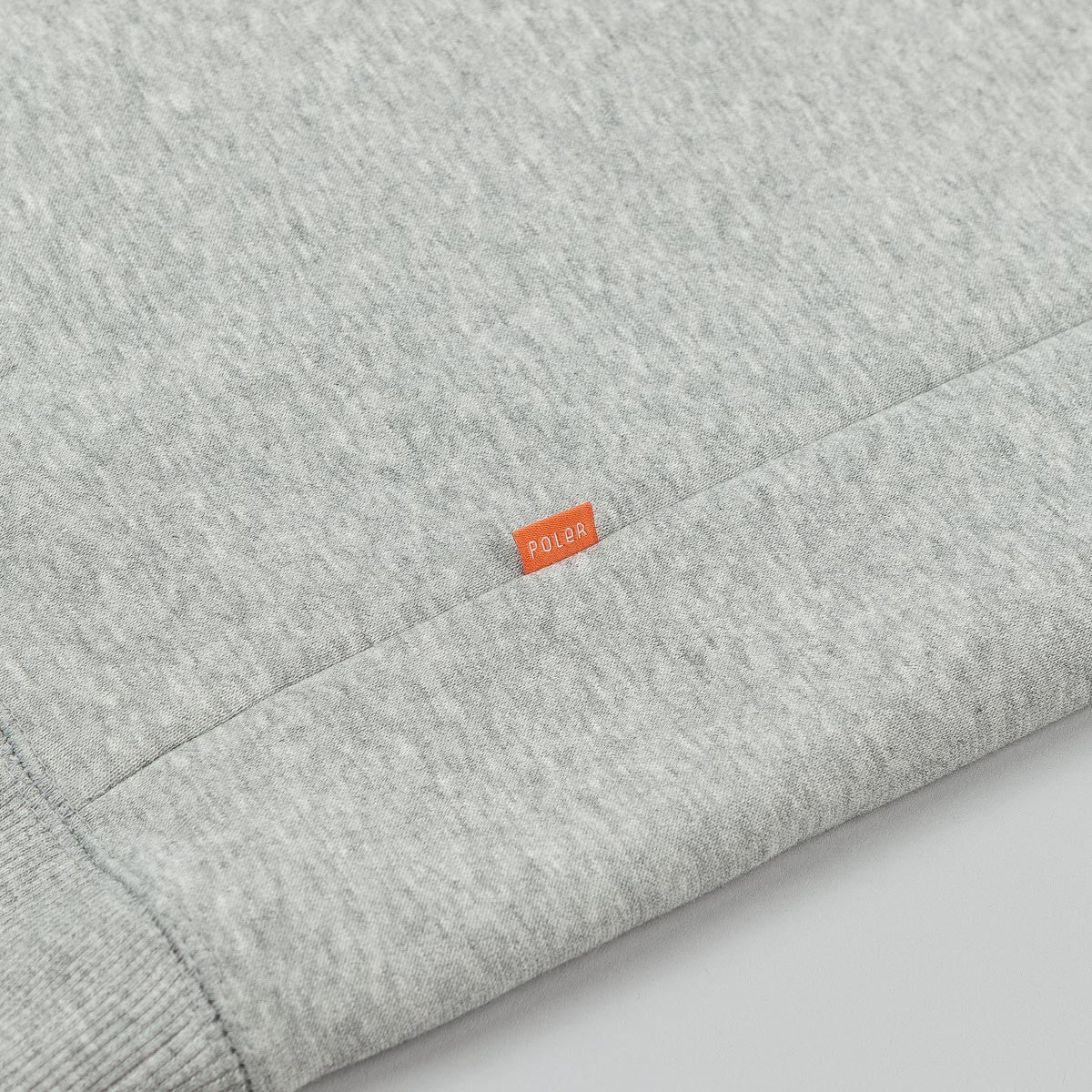 Nike SB X Poler Icon Crew Neck Sweatshirt - Dark Heather Grey / Urban Orange