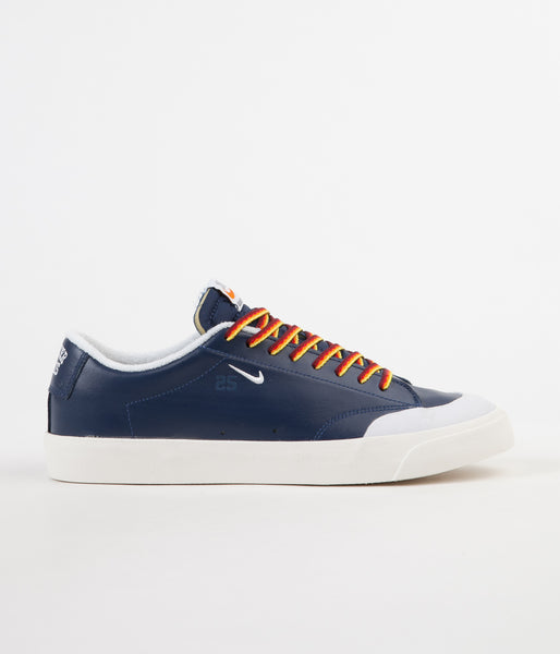 Nike SB x Quartersnacks Blazer Low XT Shoes - Navy / White - Sail | Flatspot