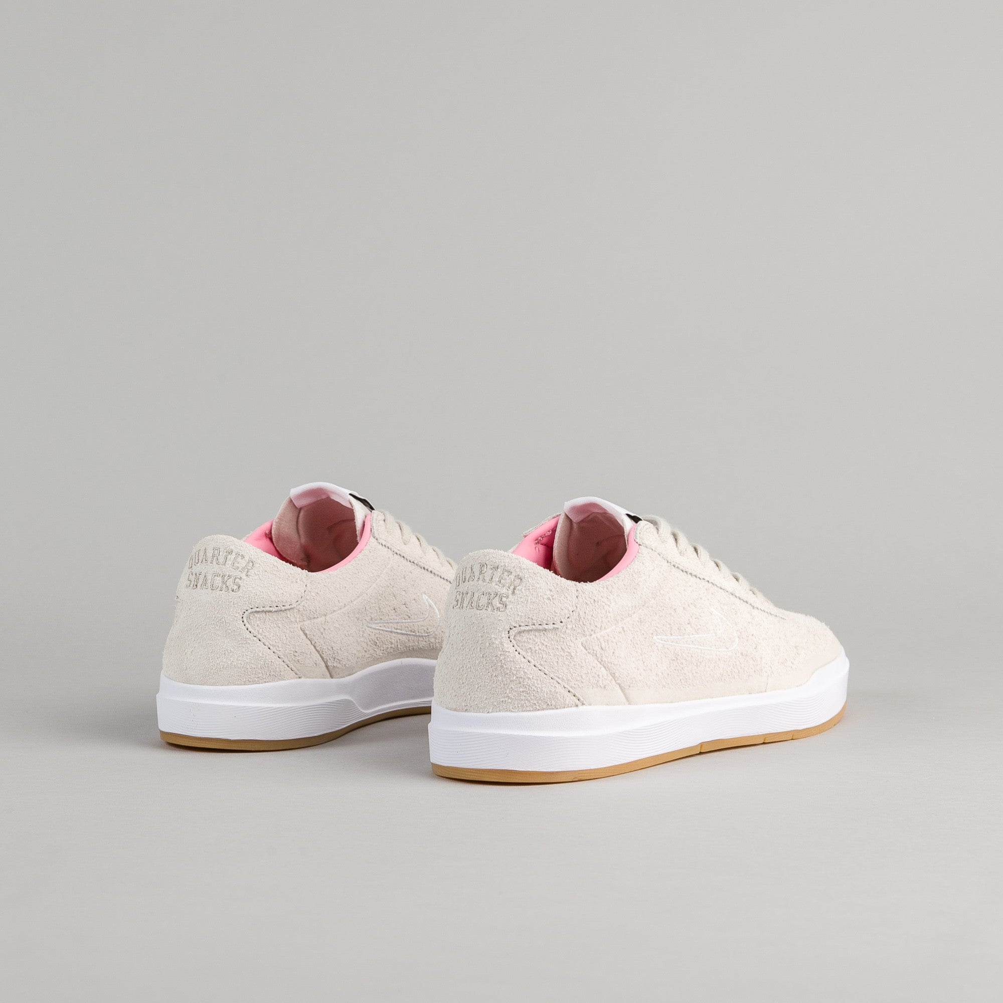 Nike SB x Quartersnacks Bruin Hyperfeel Premium Shoes - Birch / Space Pink - Black - White