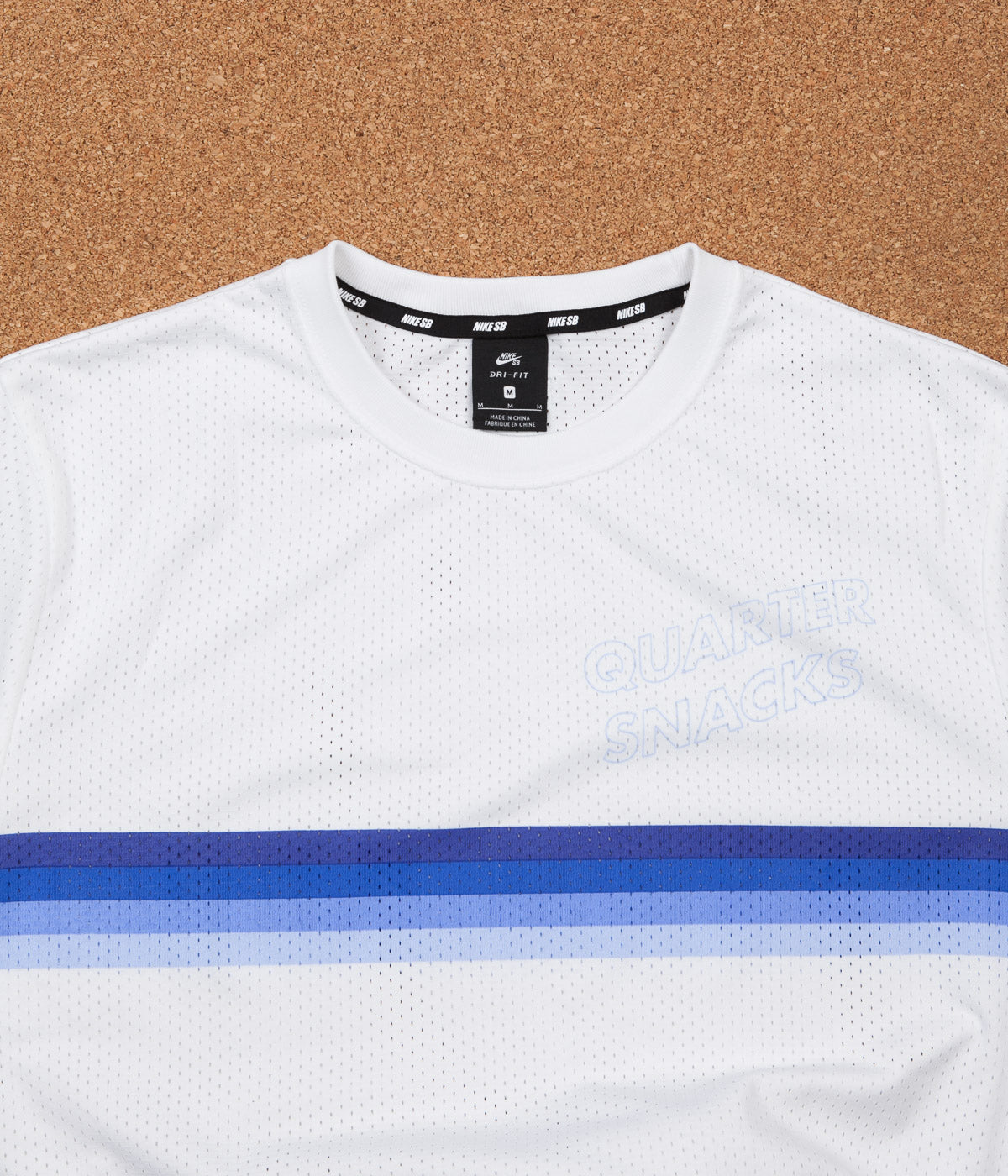 Nike SB x Quartersnacks Dry Long Sleeve Jersey - White / Royal Pulse
