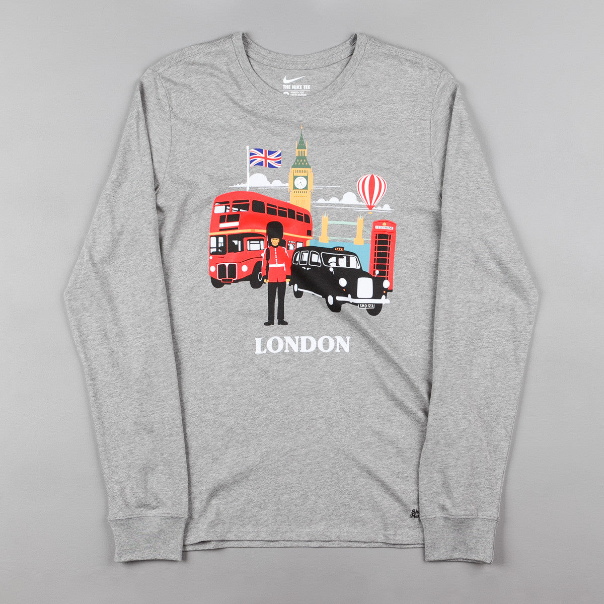 Nike SB x Skate Mental London Long Sleeve T-Shirt - Dark Grey Heather