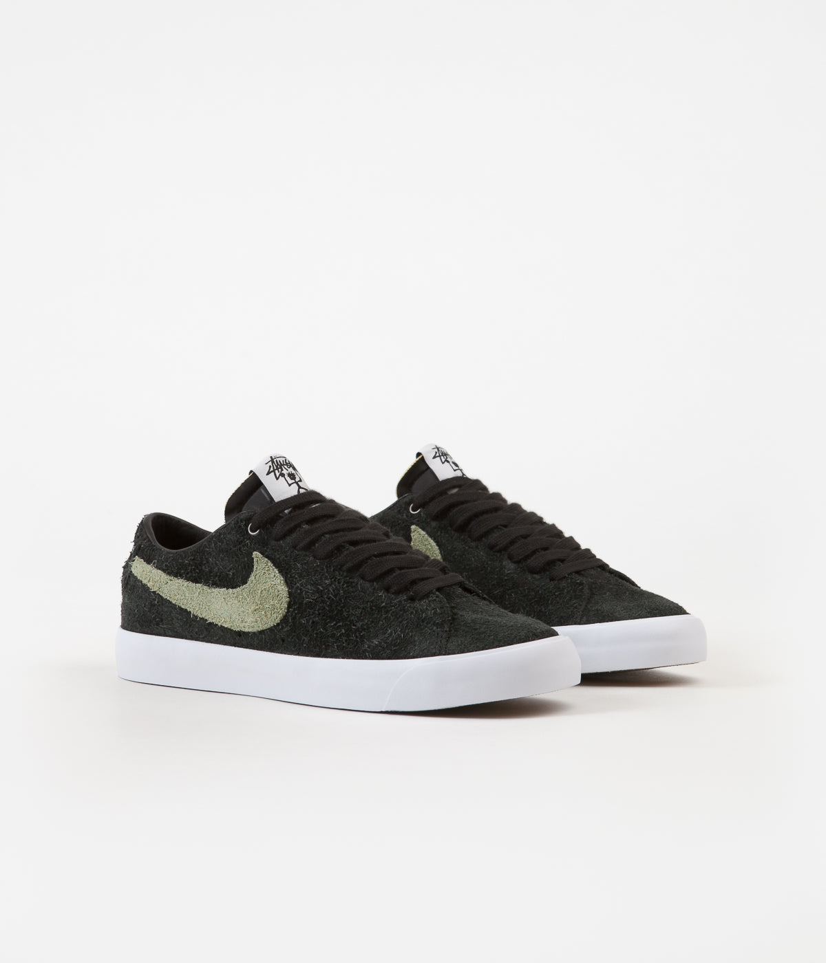 on sale bbc32 2f516 Nike SB x Stussy Blazer Low Shoes - Black / Palm Green ...