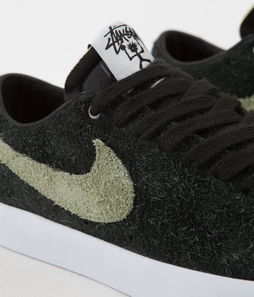 outlet store 0d99c be18d Nike SB x Stussy Blazer Low Shoes - Black / Palm Green