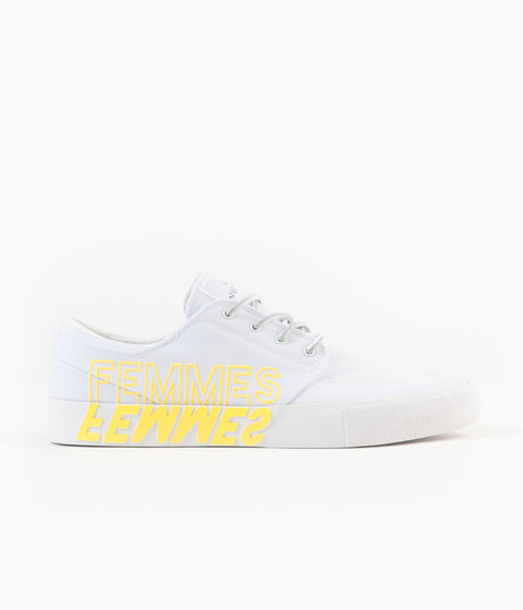 Nike SB x Violent Femmes Janoski Remastered Shoes - White / Clear - White - Tour Yellow