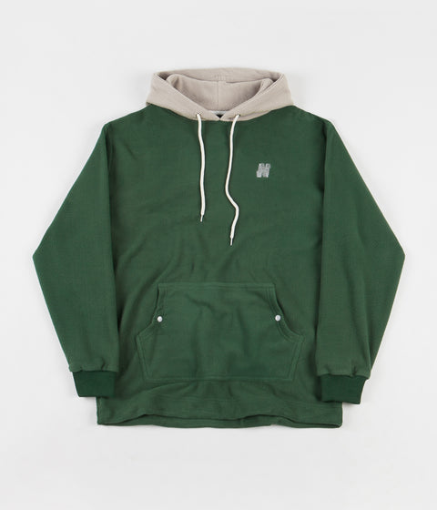 North Skateboard Magazine N Logo 2 Tone Fleece Hoodie - Green / Grey