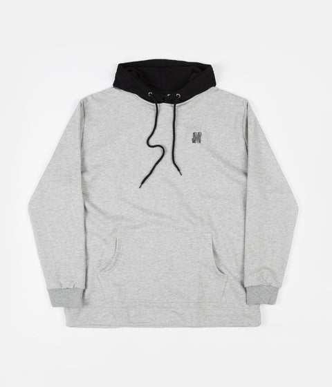 North Skateboard Magazine N Logo 2 Tone Hoodie - Grey / Black