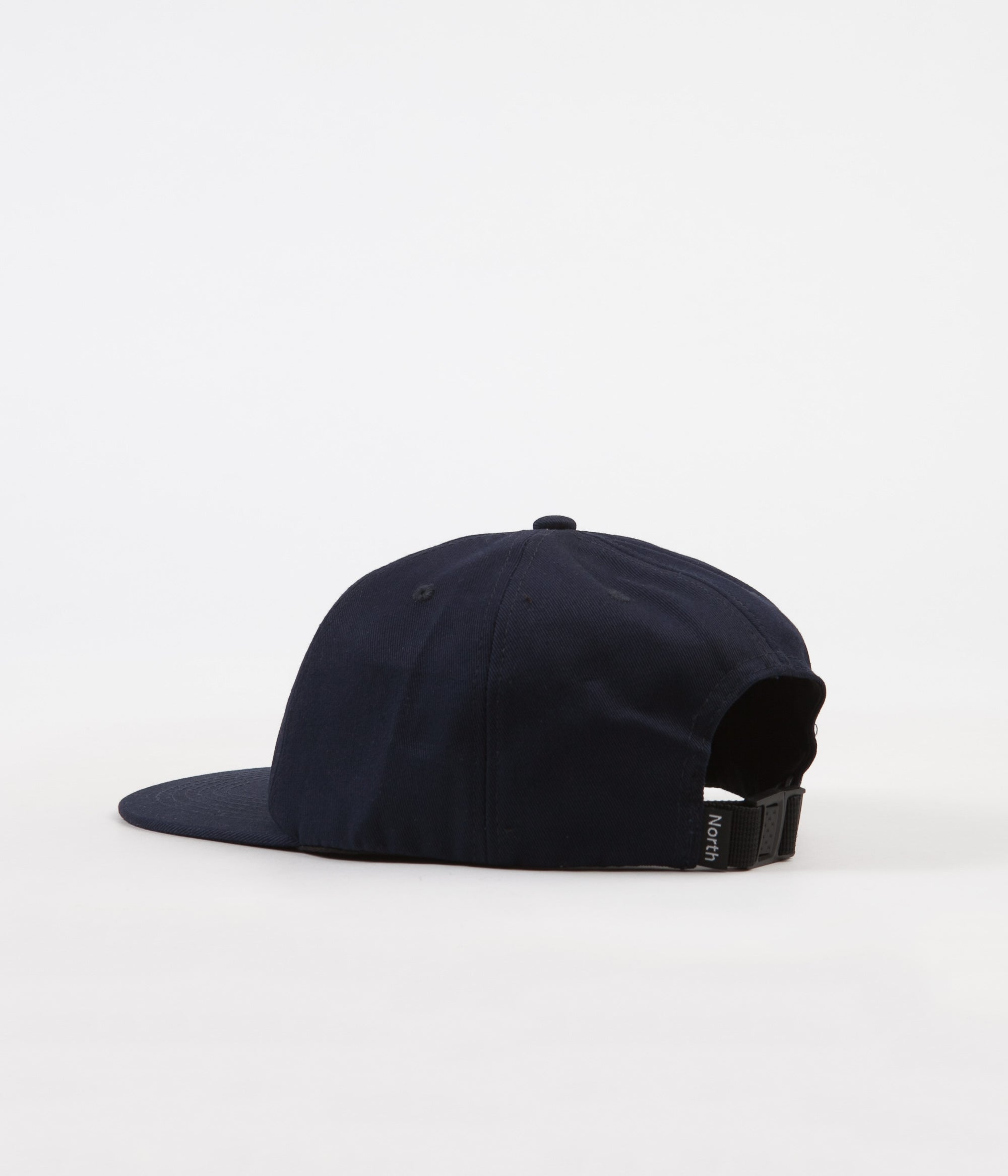 North Skateboard Magazine N Logo 6 Panel Unstructured Cap - Navy / White