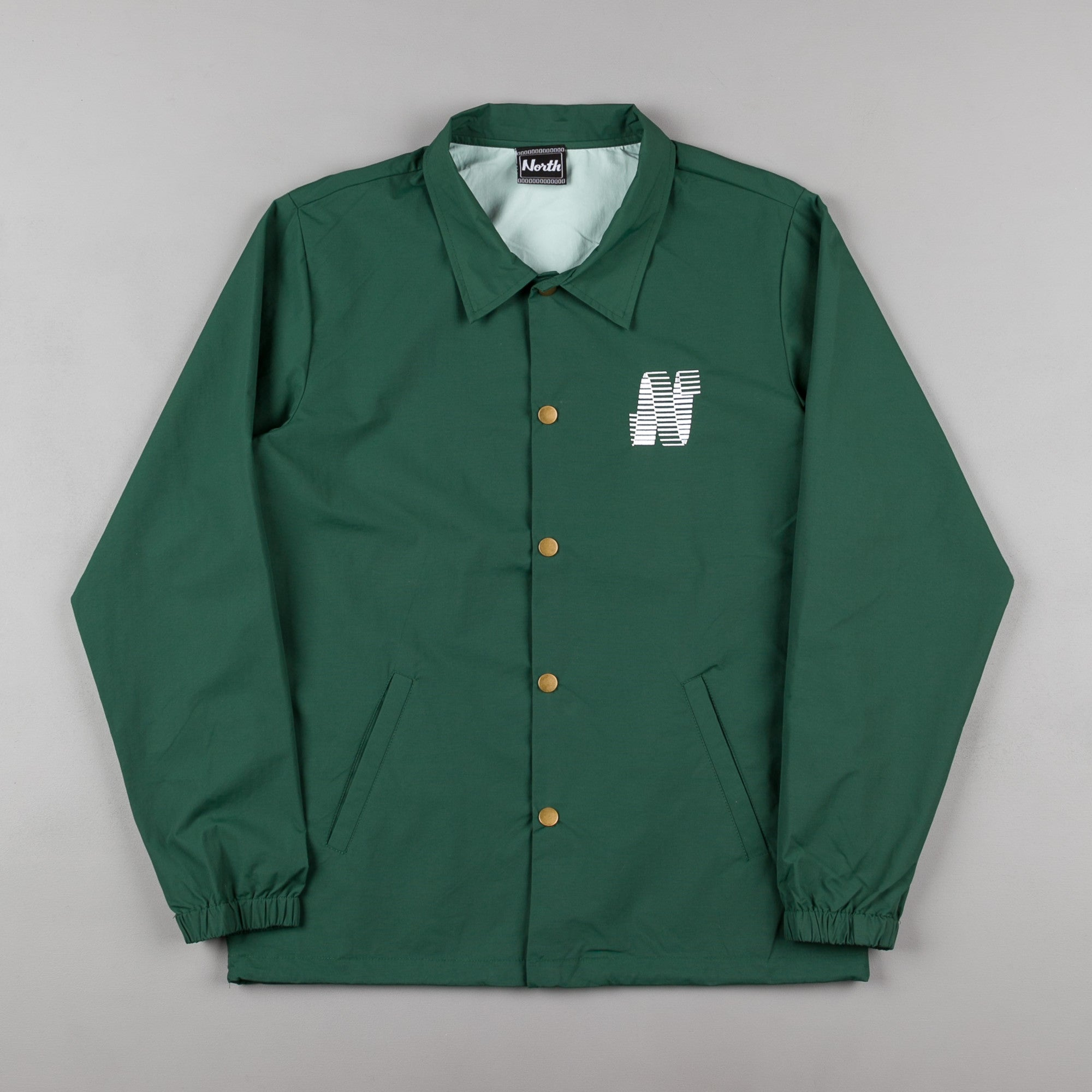 North Skateboard Magazine N Logo Coach Jacket - Green