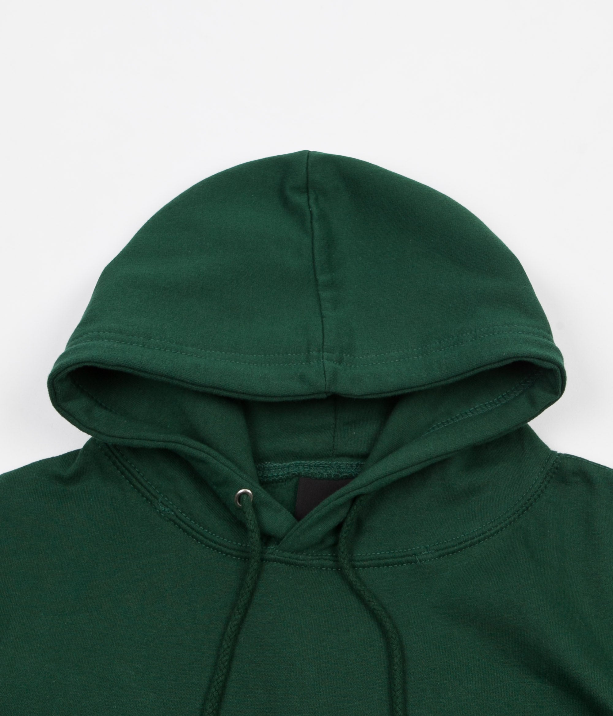North Skateboard Magazine N Logo Embroidered Hoodie - Forest / White