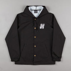 North Skateboard Magazine N Logo Hooded Coach Jacket - Black
