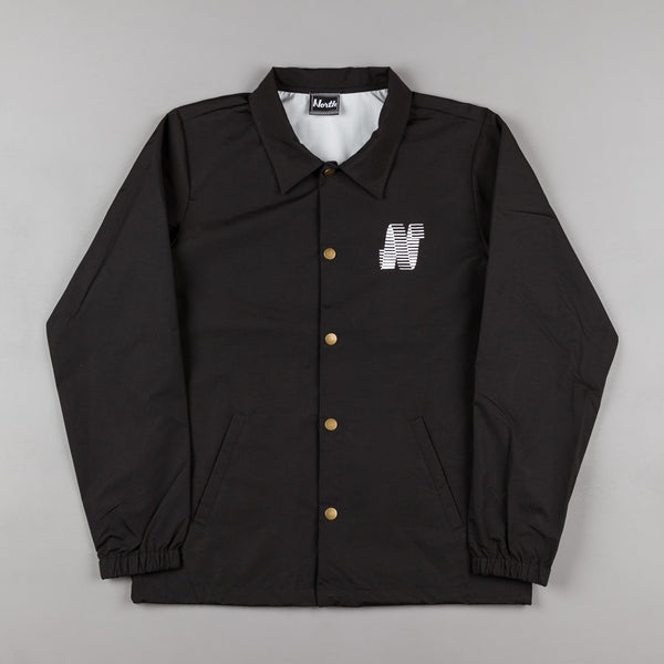 North Skateboard Magazine N Logo Coach Jacket - Black