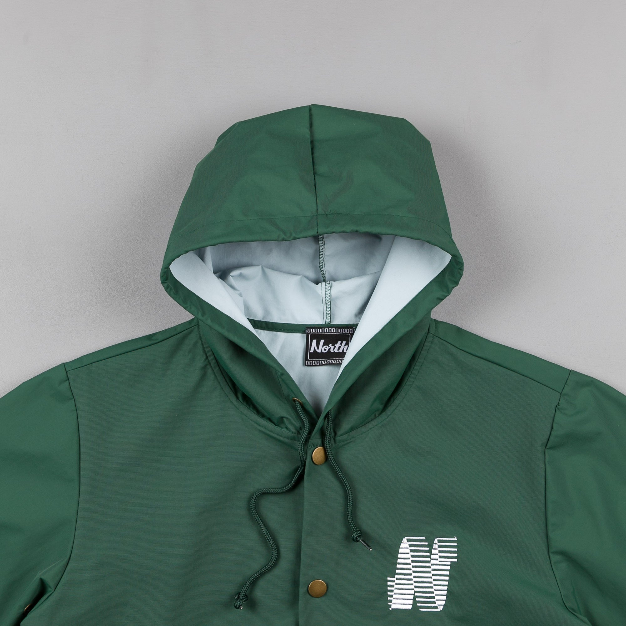 North Skateboard Magazine N Logo Hooded Coach Jacket - Green