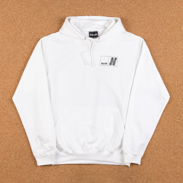 North Skateboard Magazine N Logo Hooded Sweatshirt - White / Black