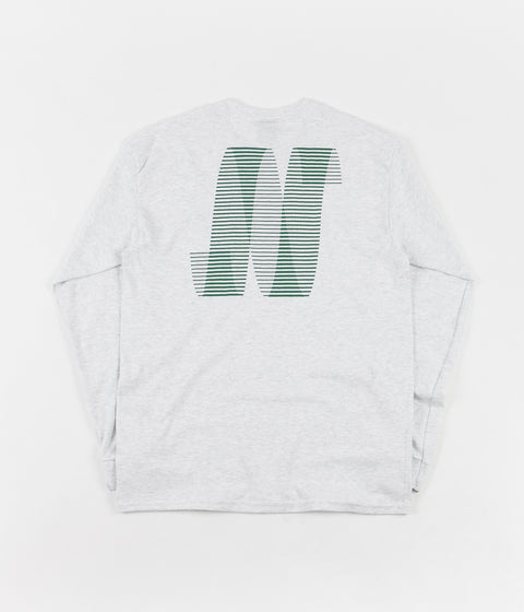 North Skateboard Magazine N Logo Long Sleeve T-Shirt - Ash / Green
