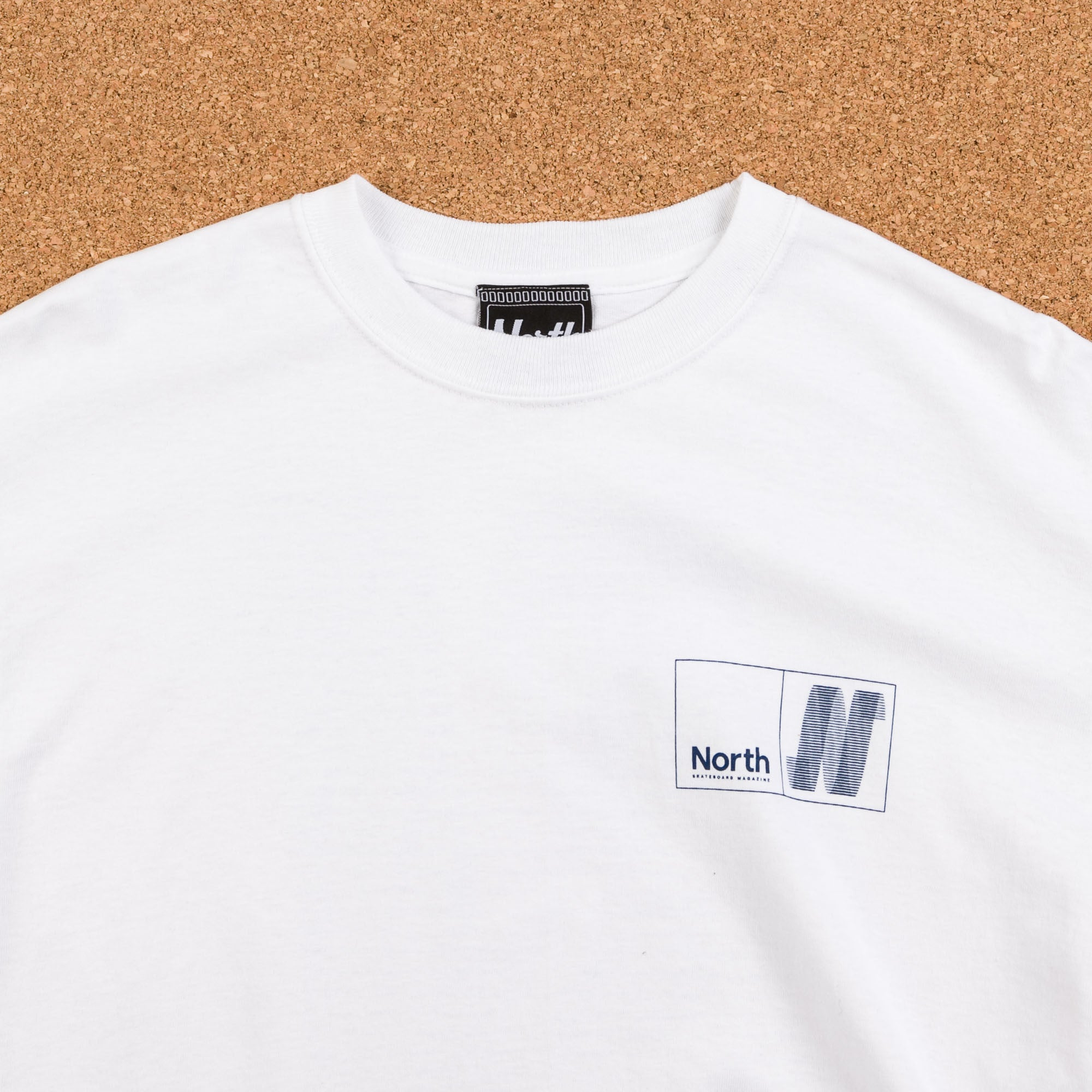North Skateboard Magazine N Logo Long Sleeve T-Shirt - White / Navy