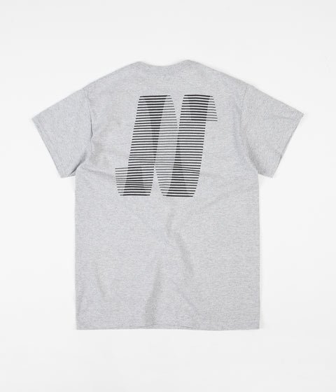 North Skateboard Magazine N Logo T-Shirt - Grey / Black