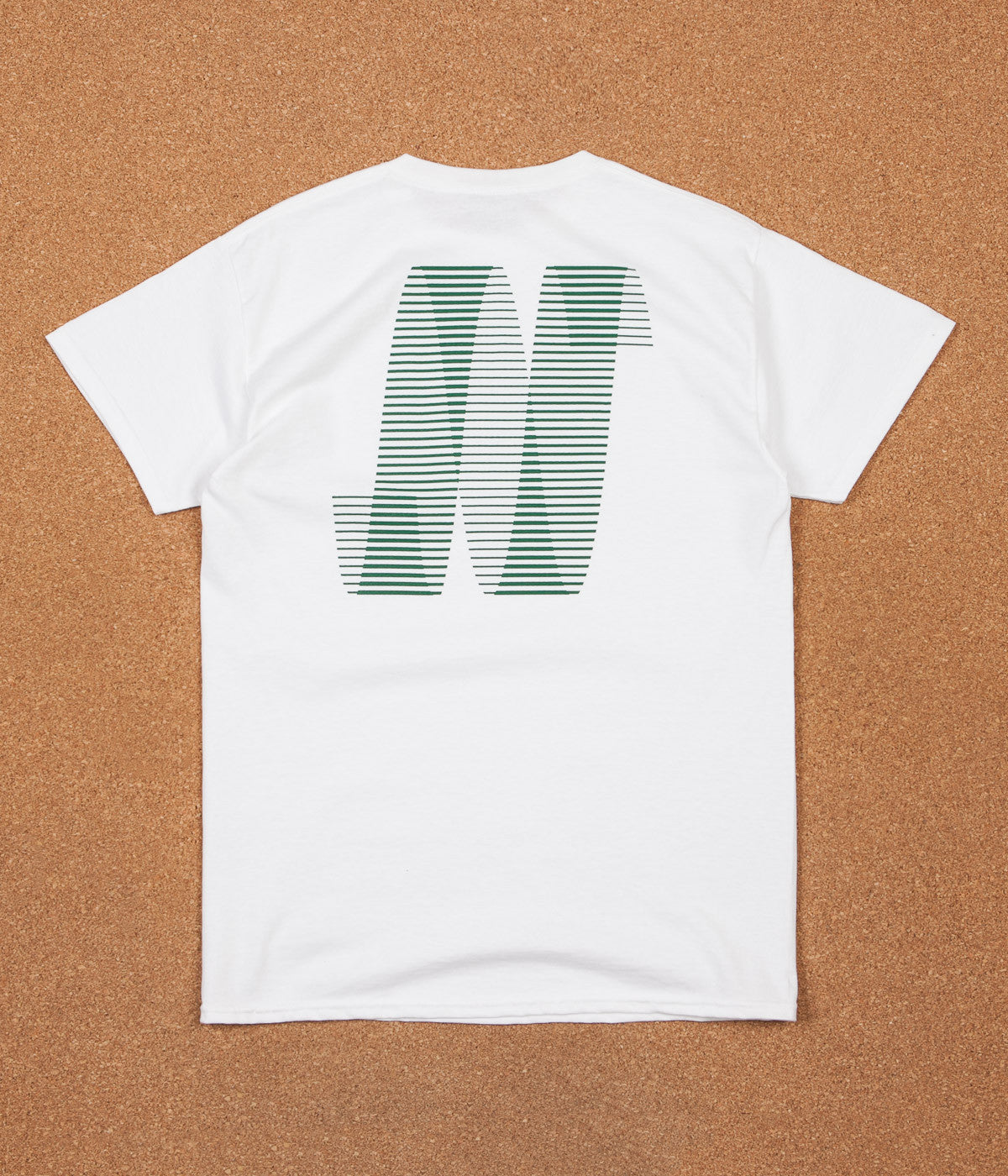 North Skateboard Magazine N Logo T-Shirt - White / Forest