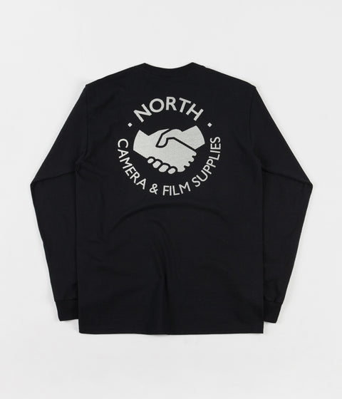 North Skateboard Magazine Supplies Dotted Logo Long Sleeve T-Shirt - Black / Cream