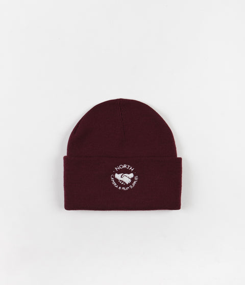 North Skateboard Magazine Supplies Logo Beanie - Burgundy