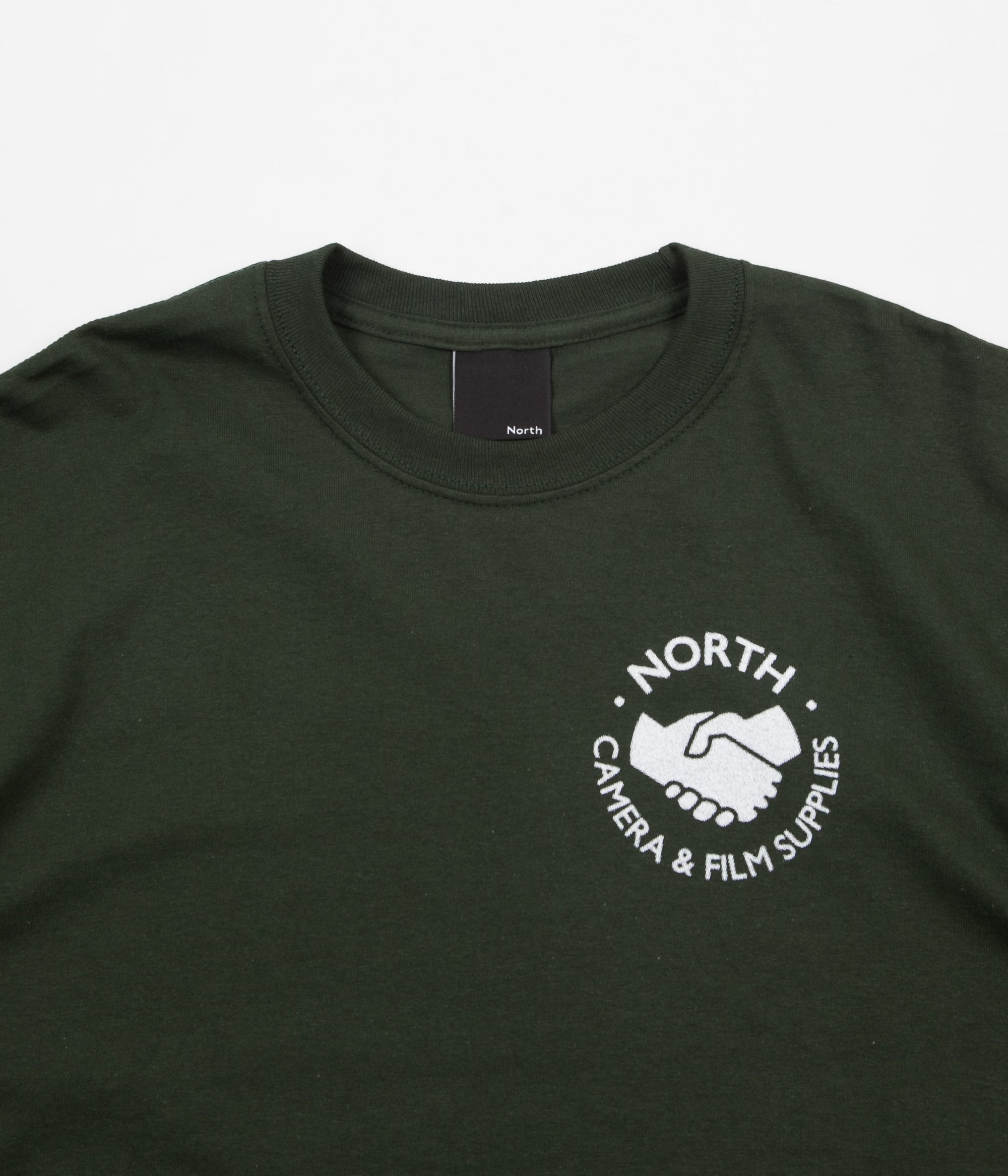 North Skateboard Magazine Supplies Logo Long Sleeve T-Shirt - Forest / White Halftone