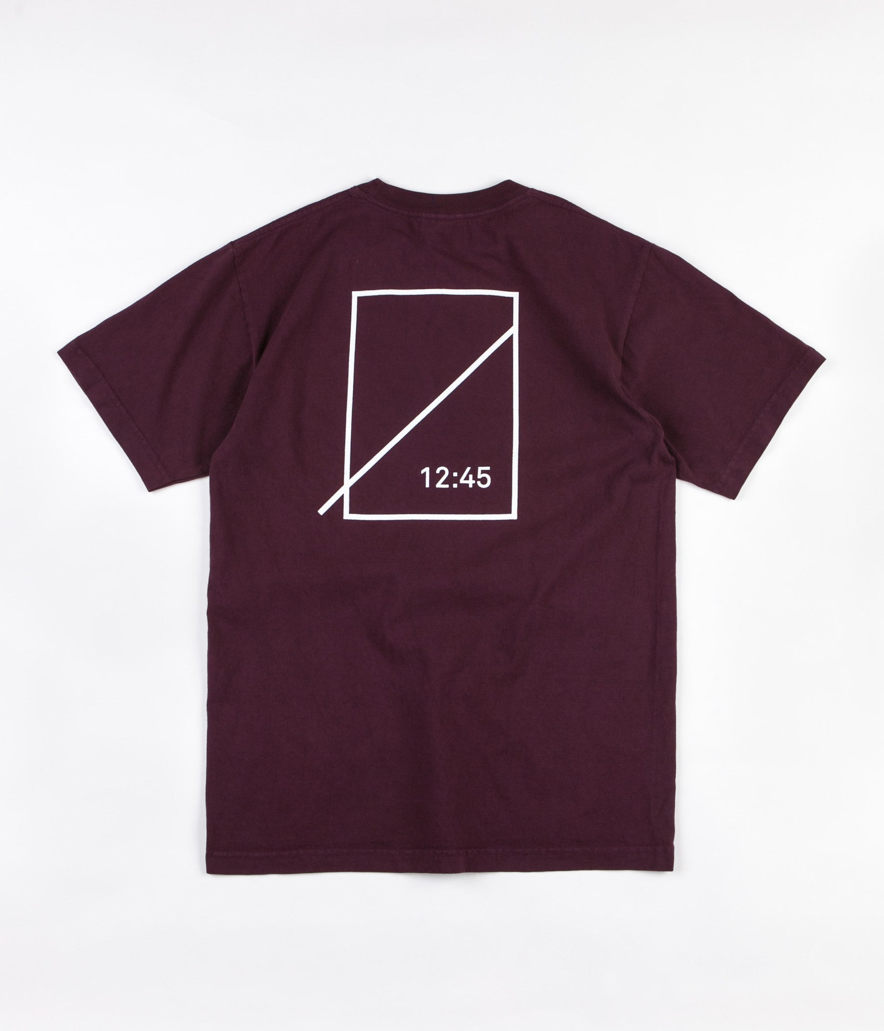 Numbers Mitered Logotype T-Shirt - Port