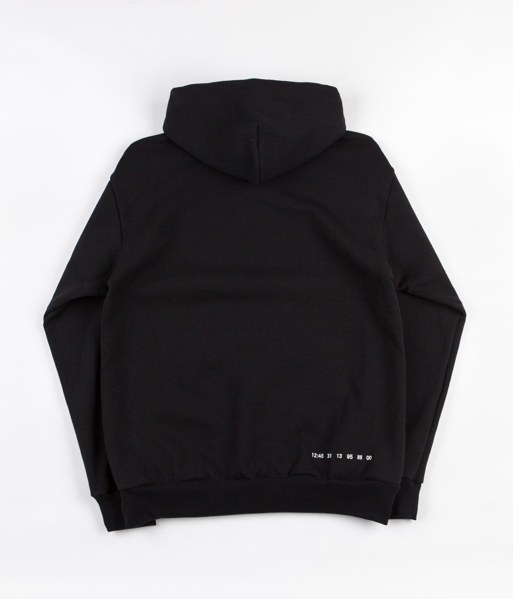 Numbers Wordmark Hooded Sweatshirt - Black