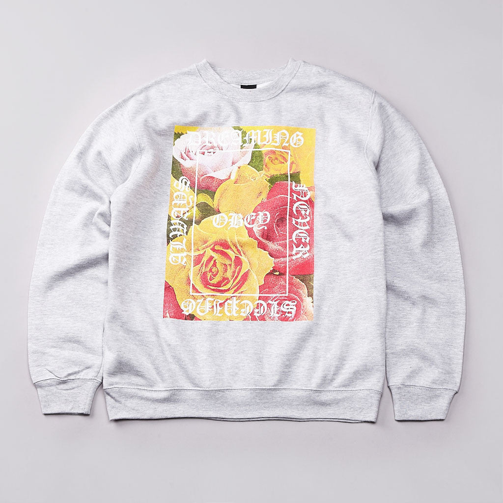 Obey Always Never Sweatshirt Heather Grey