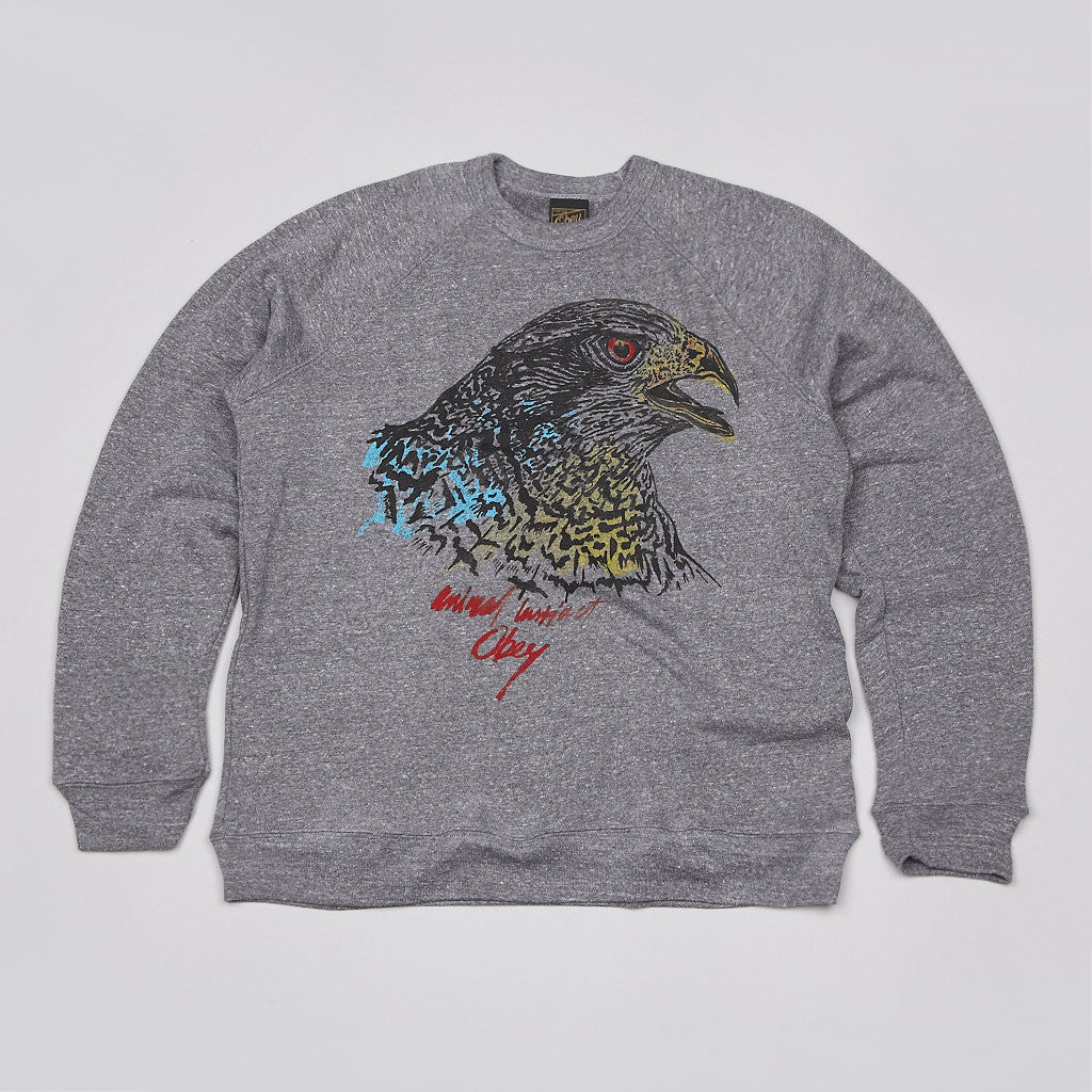 Obey Animal Instinct Sweatshirt Heather Grey