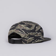 Obey Circle Patch 5 Panel Cap Tiger Camo