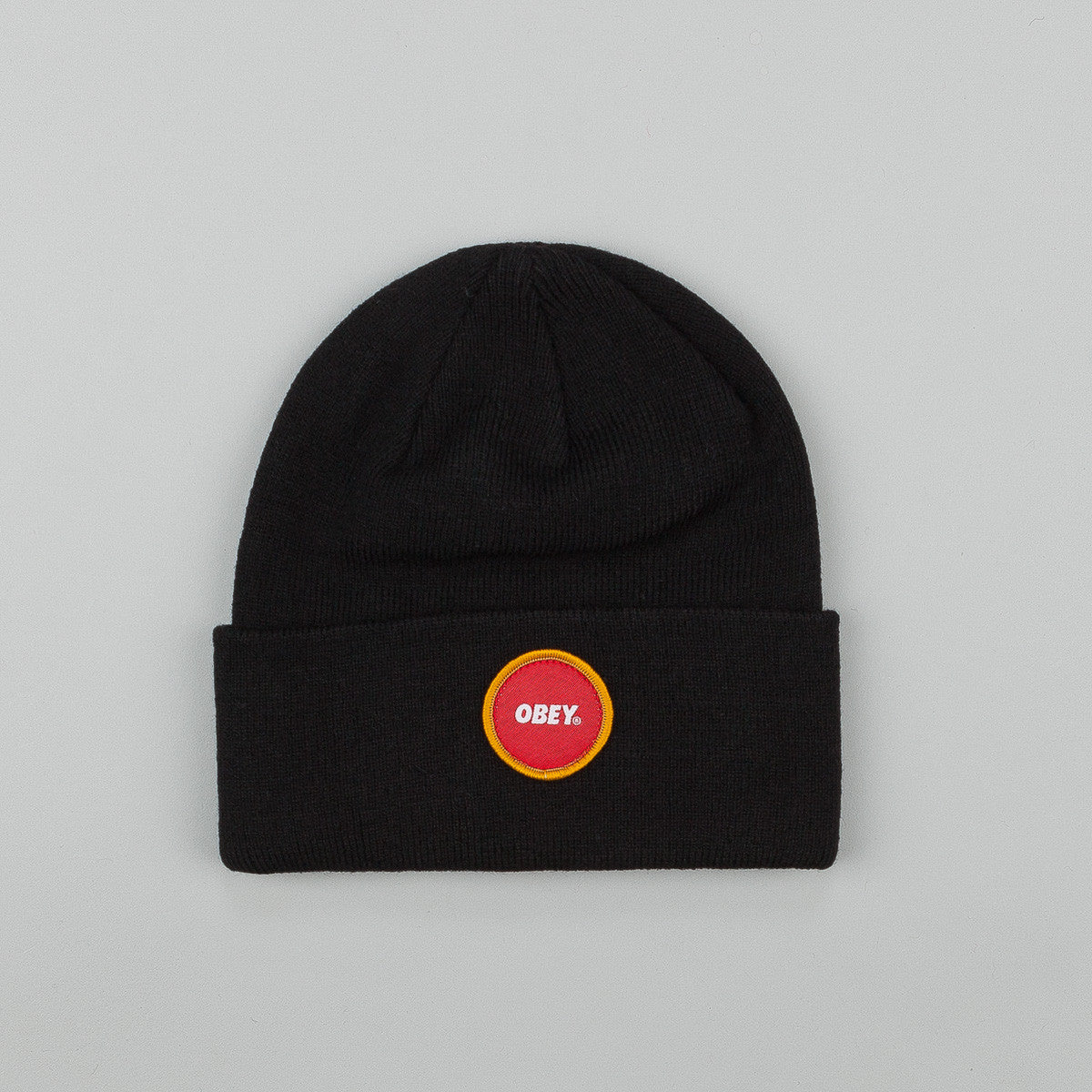 Obey Circle patch Beanie Black