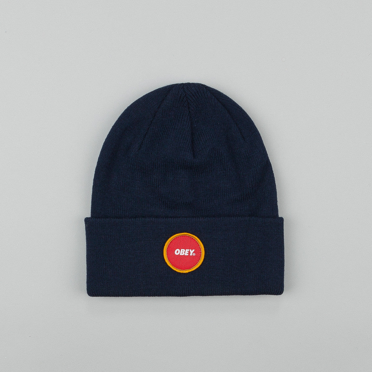 Obey Circle patch Beanie Navy