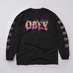 Obey Filth L/S T Shirt Black
