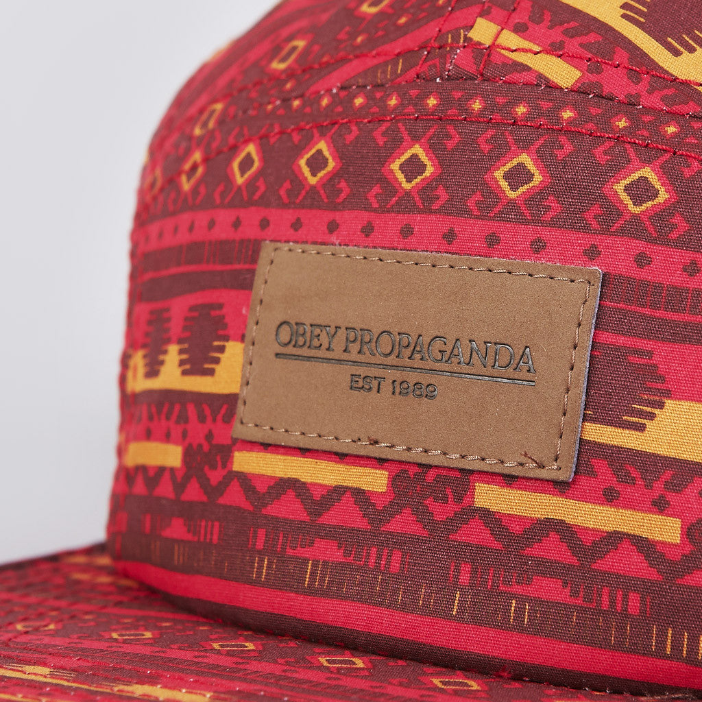 Obey Marrakesh 5 Panel Cap Red