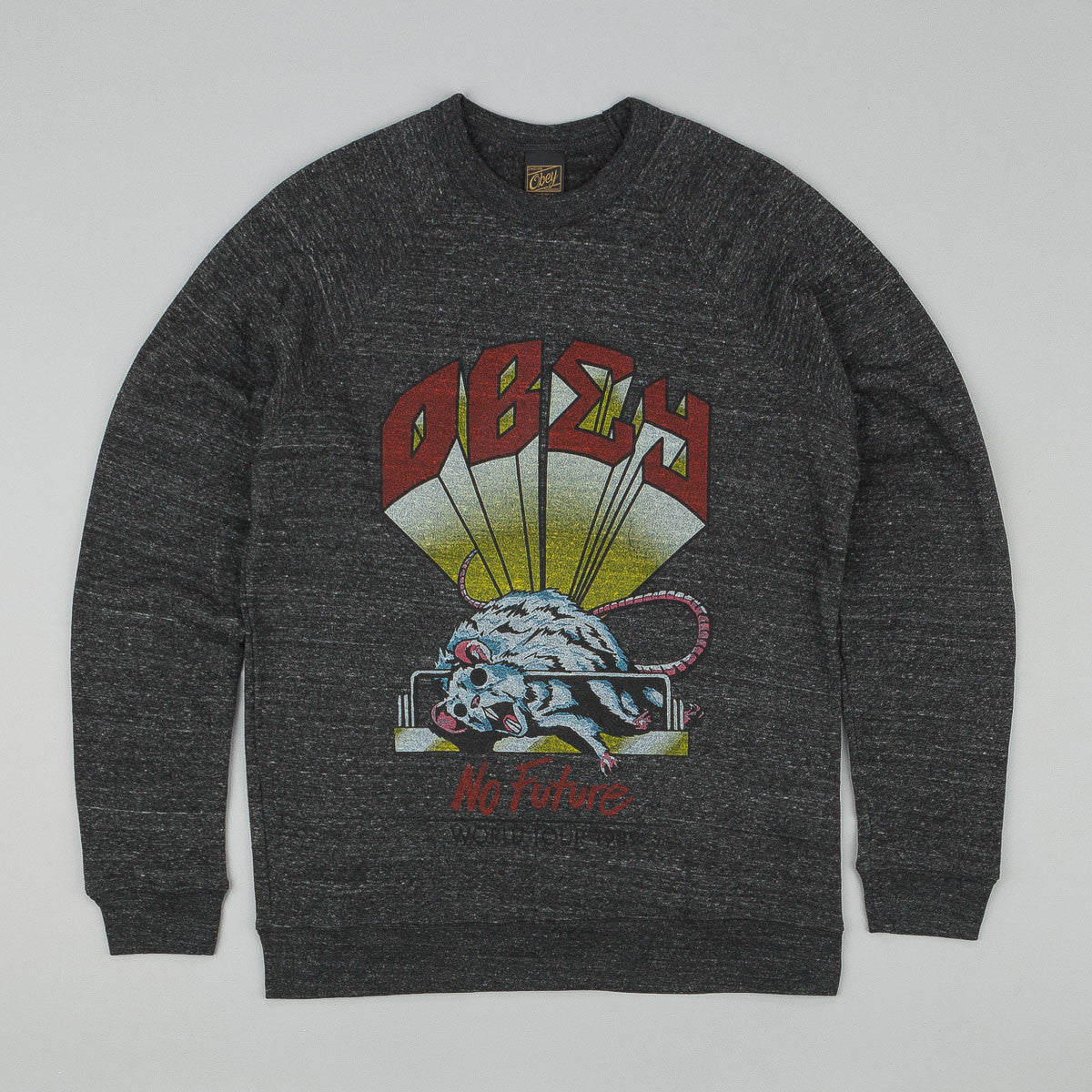 Obey No Future Sweatshirt Onxy