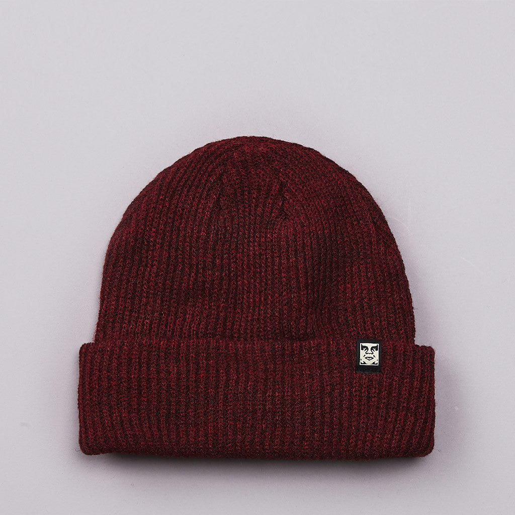 Obey Ruger Beanie Heather Burgundy